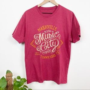 Nashville Music City Graphic T Shirt